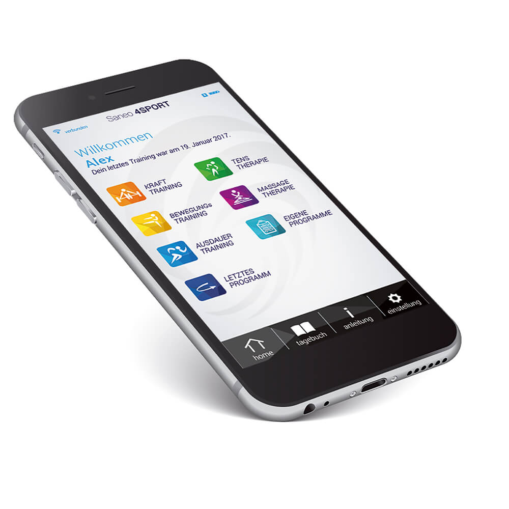saneo4sport app smartphone