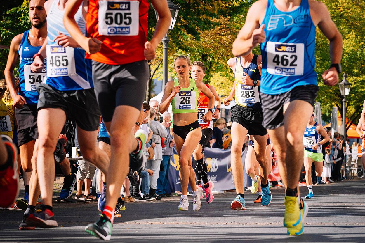 Fabienne Königstein beim Marathonlauf Langstrecke