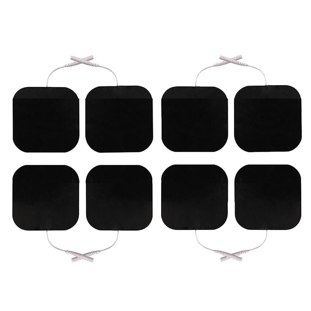 8 Klebeelektroden 50x50mm von unten