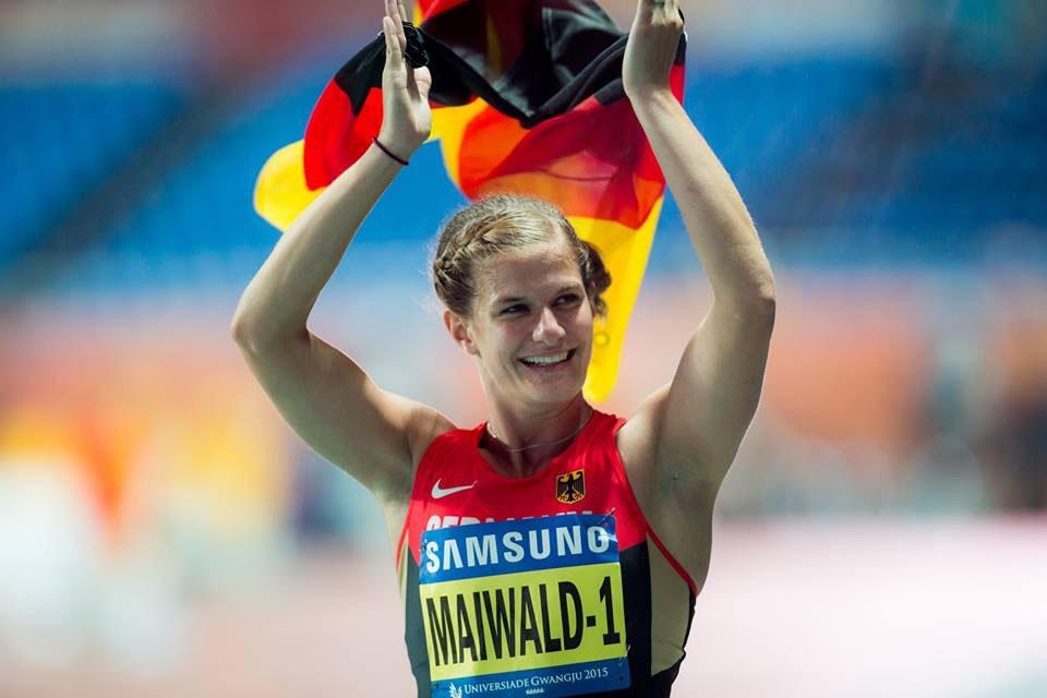 Anna Maiwald beim Siebenkampf Sieg