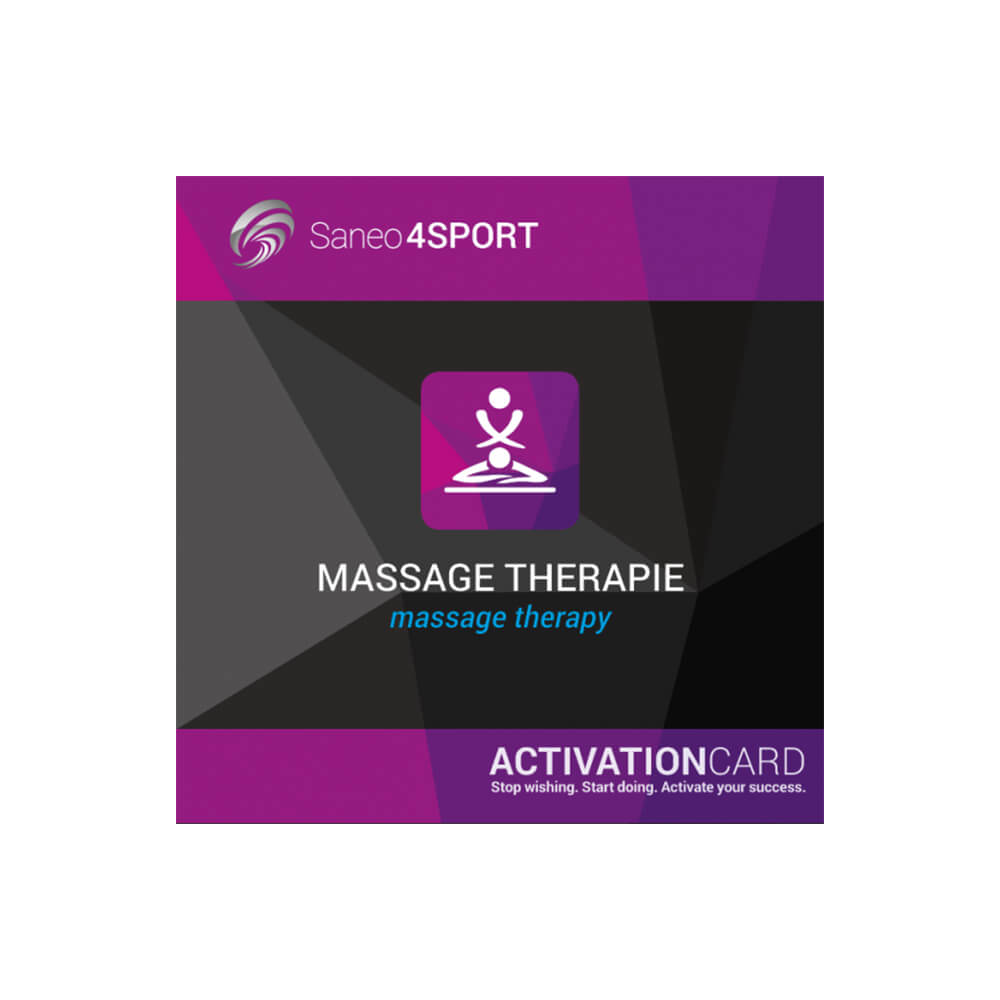 Massagetherapie Programmpaket Aktivierungskarte