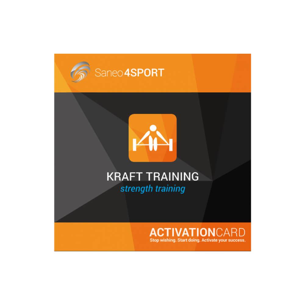 Krafttraining Programmpaket Aktivierungskarte